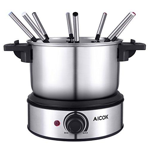 Aicok Electric Fondue Set Stainless Steel Fondue Pot
