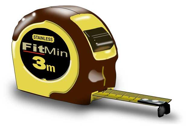 Tape measure/pencil