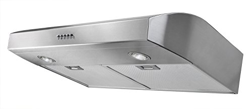 10 AKDY 30-Inch 3-Speed S tainless Steel Under Cabinet Range Hood AZ-W0175SS (Silver)