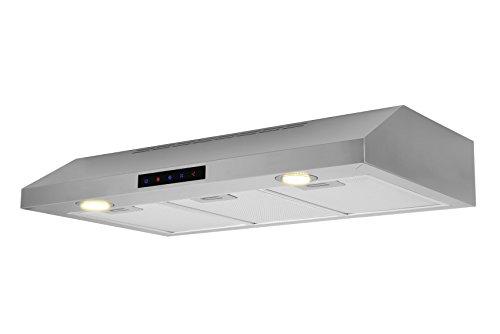 Kitchen Bath Collection WUC90-LED Stainless Steel Under-Cabinet Range Hood, 36