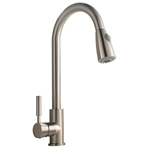 Comllen best Commercial Stainless Steel Single Handle Pull-Down Sprayer Kitchen Faucet