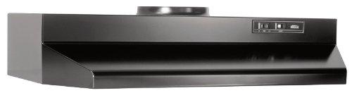 Broan 423023 ADA Capable Under-Cabinet Range Hood, 190 CFM 30-Inch, Black