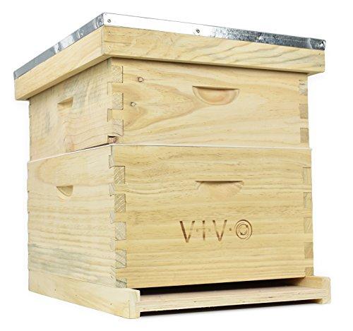 VIVO Complete Beekeeping 20 Frame Beehive Box Kit (10 medium 10 Deep)